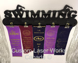 Medal Hanger - Swimming Ribbons Display