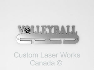 Medal Hanger - Volleyball Black / 280Mm X 80Mm 6Mm Display