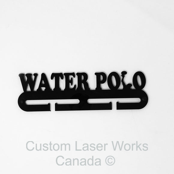 Medal Hanger - Water Polo Black / 270Mm X 80Mm 6Mm Display