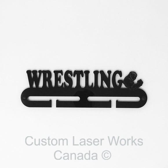 Medal Hanger - Wrestling Black / 270Mm X 80Mm 6Mm Display