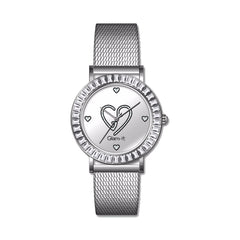 Glam-it! Swarovski Crystal Bling Heart Stainless Steel Watch