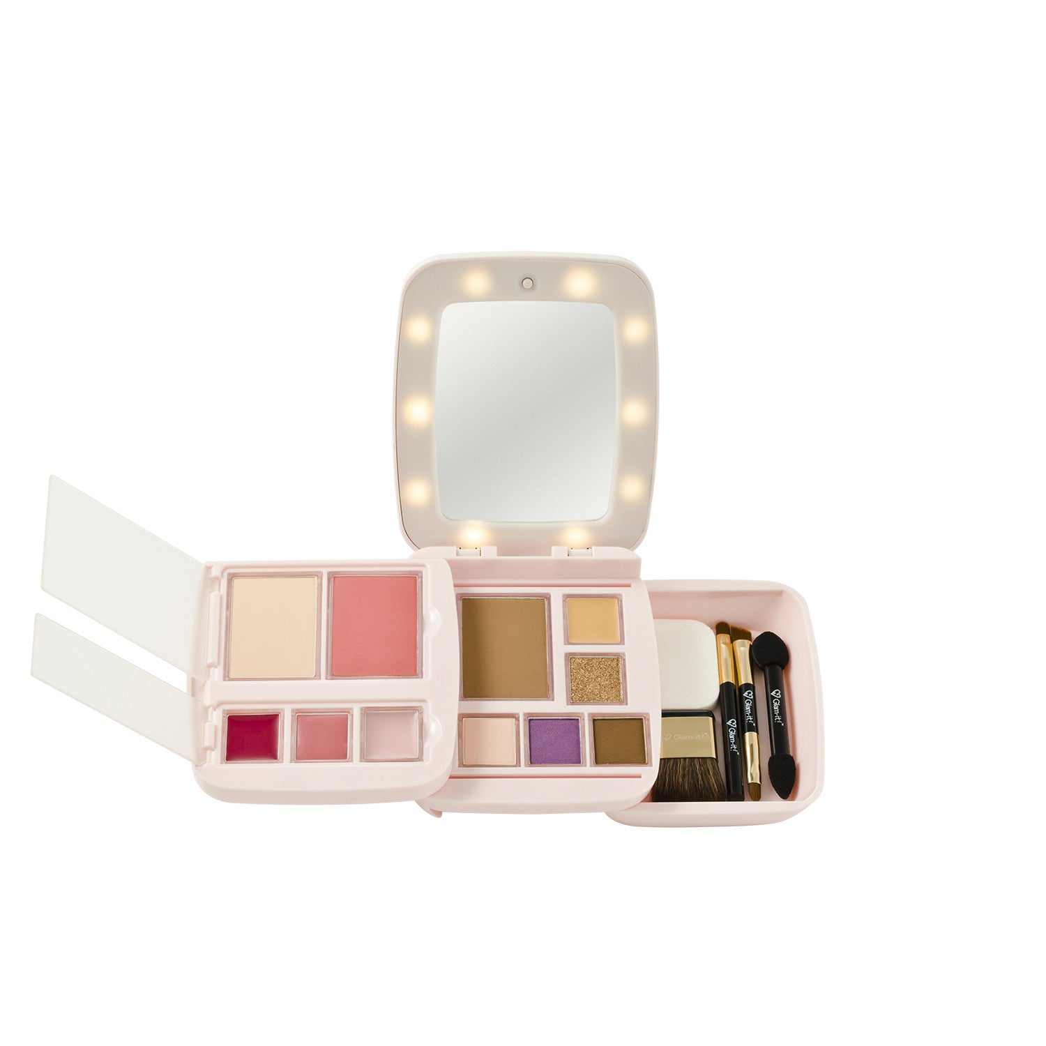GlamPact LED Light Up Palette – Tan (All In One)