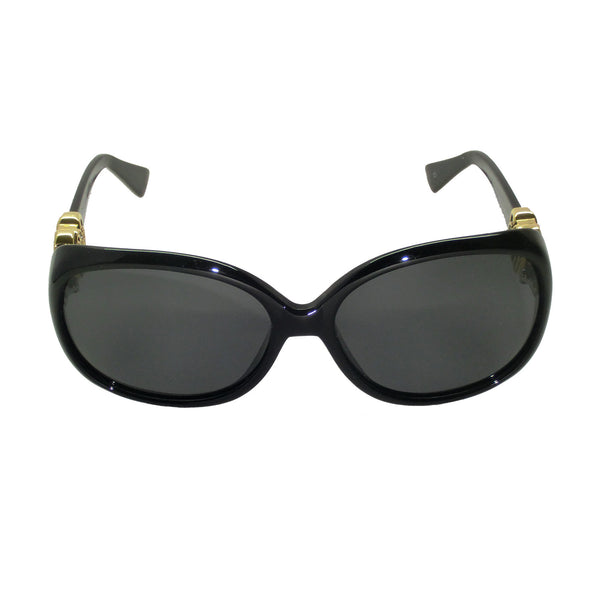 Lady Sunglasses (Black Frames, Gold Logo, Smoke Gradient Lens)