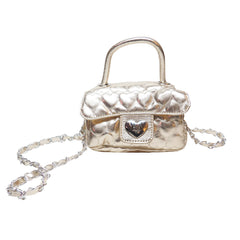 Heart Patterned Mini Bag (Gold)