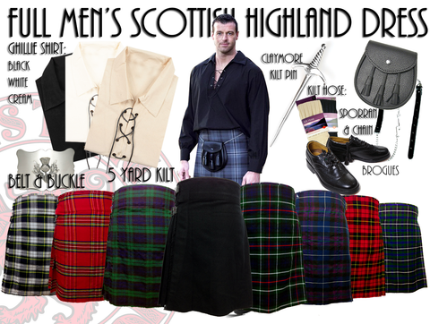 Men's Highland Kilt Outfits