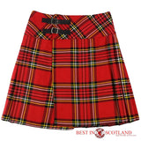 Ladies Royal Stewart Red Tartan Billie Kilt - Mid-Length Skirt - Skirts -  - Best In Scotland - 1
