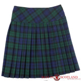 Ladies' Black Watch Green Tartan Billie Kilt - Mid-Length Skirt - Skirts -  - Best In Scotland - 2