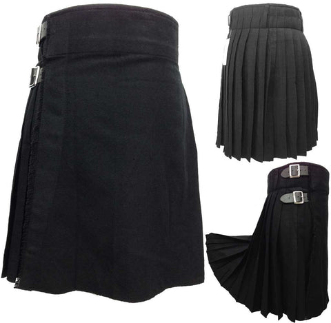 Men's Black 5 Yard Kilt - 5 Yard Kilts -  - Best In Scotland