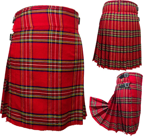Men's Royal Stewart 5 Yard Kilt - 5 Yard Kilts -  - Best In Scotland