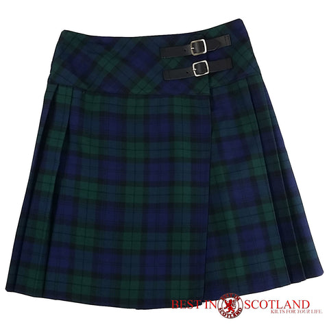 Ladies' Black Watch Green Tartan Billie Kilt - Mid-Length Skirt - Skirts -  - Best In Scotland - 1