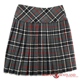 Ladies' Grey Tartan Billie Kilt - Mid-Length Skirt - Skirts -  - Best In Scotland - 2
