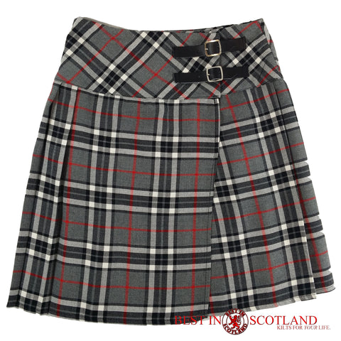 Ladies' Grey Tartan Billie Kilt - Mid-Length Skirt - Skirts -  - Best In Scotland - 1