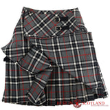 Ladies' Grey Tartan Billie Kilt - Mid-Length Skirt - Skirts -  - Best In Scotland - 3