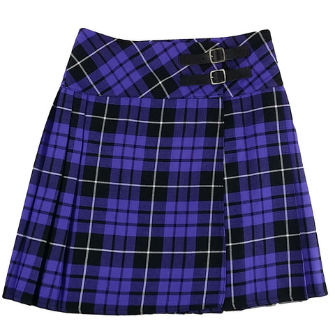Ladies' Purple Tartan Billit Kilt - Mid-Length Skirt - Skirts -  - Best In Scotland - 1