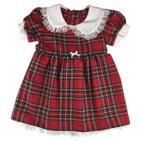 Girls' Red Tartan Sunday Dress - Kids Clothing -  - Best In Scotland - 1