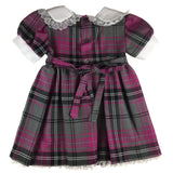 Girls' Purple & Gray Tartan Sunday Dress - Kids Clothing -  - Best In Scotland - 2
