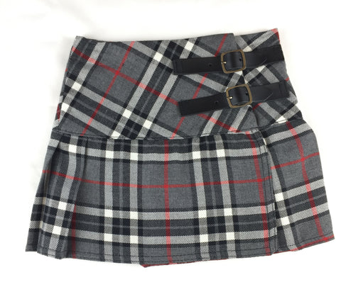 Kids Gray and White Tartan Skirt - Kids Clothing -  - Best In Scotland - 1