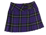 Girls' Purple and White Tartan Skirt - Kids Clothing -  - Best In Scotland - 1