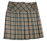 Mid-Length Burberry Tartan Skirt with Buttons & Zip - Skirts -  - Best In Scotland - 1