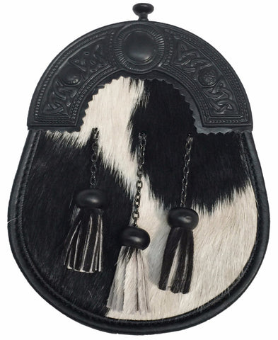 Black Cowhide Sporran - Accessories -  - Best In Scotland