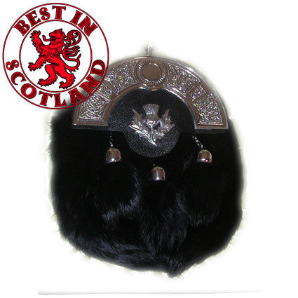Black Fluffy Sporran - Accessories -  - Best In Scotland