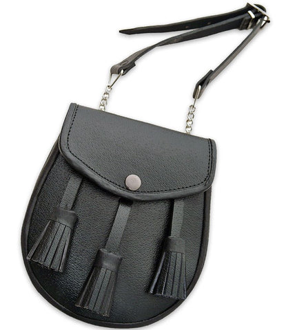 Plain Leather Sporran - Accessories -  - Best In Scotland