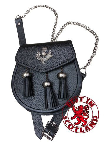 Thistle Leather Sporran - Accessories -  - Best In Scotland