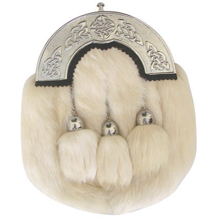 White Fluffy Sporran - Accessories -  - Best In Scotland