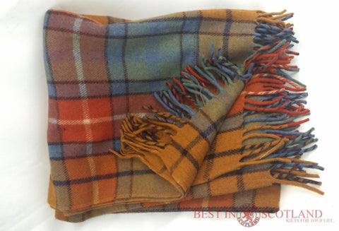 Wool Tartan Blanket: Antique Buchanan - Throws -  - Best In Scotland