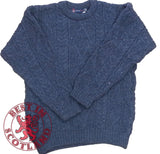 Blue Wool Aran Jumpers - Jumper, Shirts and Jackets -  - Best In Scotland - 1