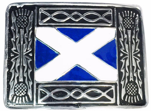 Saltire Kilt Belt Buckle - Belts -  - Best In Scotland