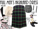 MacKenzie Tartan 8 Piece Highland Kilt Outfit Package - 5 Yard Kilts -  - Best In Scotland - 1
