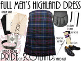 Pride of Scotland Tartan 8 Piece Highland Kilt Outfit Package - 5 Yard Kilts -  - Best In Scotland - 1