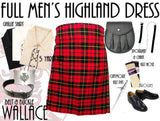 Wallace Tartan 8 Piece Highland Kilt Outfit Package - 5 Yard Kilts -  - Best In Scotland - 1