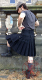 Mens' Snap Button Black Utility Kilt - Utility Kilts -  - Best In Scotland - 6
