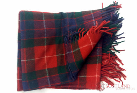 Wool Tartan Blanket: Fraser Red - Throws -  - Best In Scotland