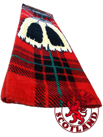 Red Novelty Kilt Towel - Gifts - Red - Best In Scotland