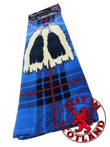 Blue Novelty Kilt Towel - Gifts - Blue - Best In Scotland