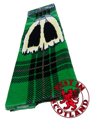 Green Novelty Kilt Towel - Gifts - Green - Best In Scotland