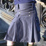 Mens' Snap Button Grey Utility Kilt - Utility Kilts -  - Best In Scotland - 2