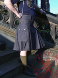 Mens' Snap Button Grey Utility Kilt - Utility Kilts -  - Best In Scotland - 4