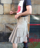 Mens' Snap Button Khaki Utility Kilt - Utility Kilts -  - Best In Scotland - 3