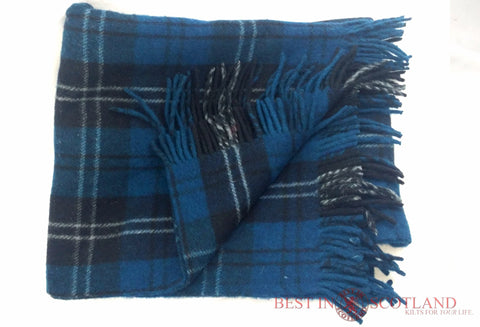 Wool Tartan Blanket: Ramsay Blue - Throws -  - Best In Scotland