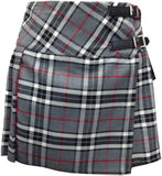 Ladies' Grey Tartan Billie Kilt - Mid-Length Skirt - Skirts -  - Best In Scotland - 4