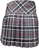 Ladies' Grey Tartan Billie Kilt - Mid-Length Skirt - Skirts -  - Best In Scotland - 6