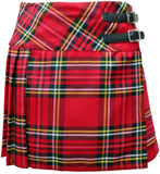 Ladies Royal Stewart Red Tartan Billie Kilt - Mid-Length Skirt - Skirts -  - Best In Scotland - 2