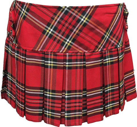 Royal Stewart Tartan Skirt With 4 Buttons - Skirts -  - Best In Scotland - 1