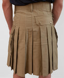 Mens' Snap Button Khaki Utility Kilt - Utility Kilts -  - Best In Scotland - 5