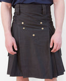 Mens' Snap Button Grey Utility Kilt - Utility Kilts -  - Best In Scotland - 6