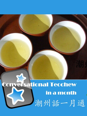 Conversational Teochew In A Month - Anki Flashcards (with Audio & Traditional Chinese text)